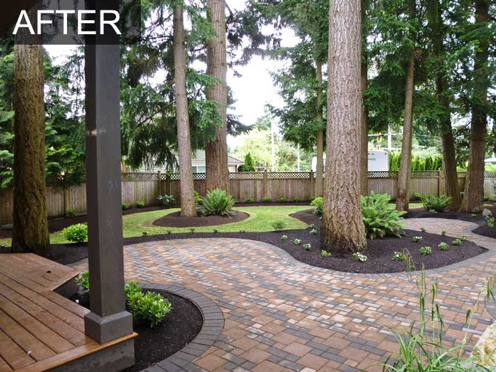 Backyard Makeover With Irrigation System For Home In