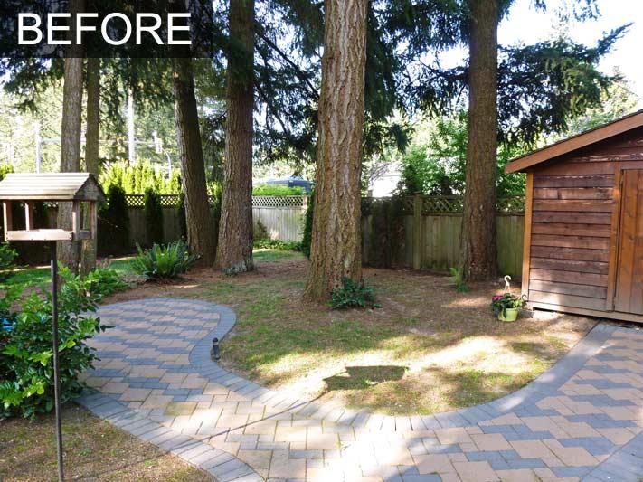 west coast garden flower beds suit conifer filled back yard