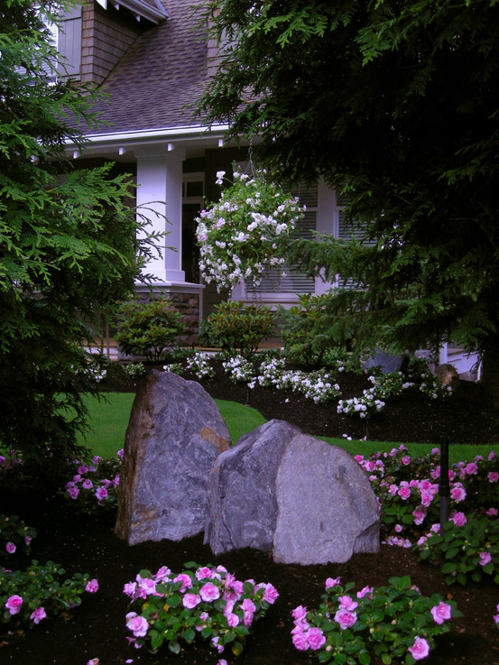Front yard front yard makeover transformation south for Landscaping rocks canada