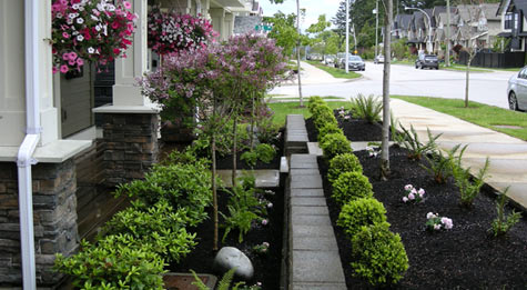 Landscaping portfolio fabulous flower beds for North facing back garden designs