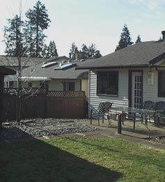 Backyard renovation / makeover - South Surrey - before